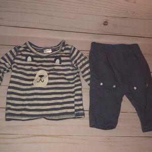Carters newborn teddy bear outfit